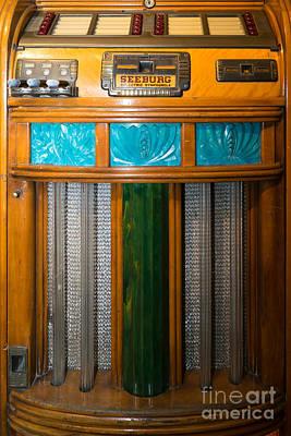 Old Vintage Seeburg Jukebox Dsc2802 Poster