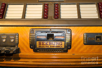 Old Vintage Seeburg Jukebox Dsc2805 Poster by Wingsdomain Art and Photography