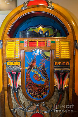 Old Vintage Wurlitzer Jukebox Dsc2778 Poster by Wingsdomain Art and Photography