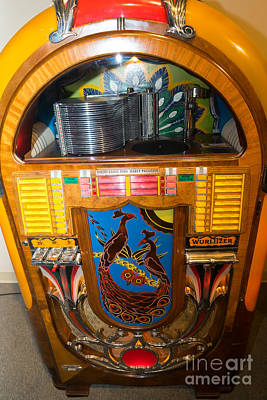 Old Vintage Wurlitzer Jukebox Dsc2782 Poster by Wingsdomain Art and Photography