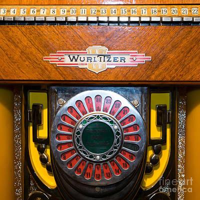 Old Vintage Wurlitzer Jukebox Dsc2809 Square Poster