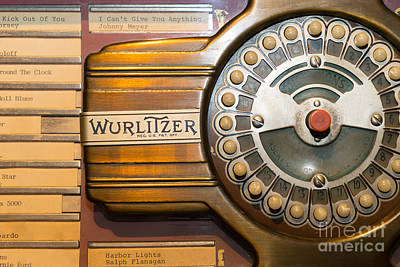 Old Vintage Wurlitzer Jukebox Dsc2814 Poster by Wingsdomain Art and Photography