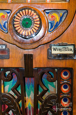 Old Vintage Wurlitzer Jukebox Dsc2819 Poster by Wingsdomain Art and Photography