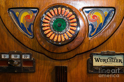 Old Vintage Wurlitzer Jukebox Dsc2822 Poster by Wingsdomain Art and Photography