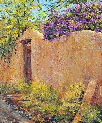 Old Wall And Lilacs Poster by Steven Boone