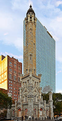 Old Water Tower Chicago Poster