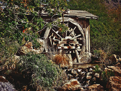 Poster featuring the photograph Old Water Wheel by Elaine Malott