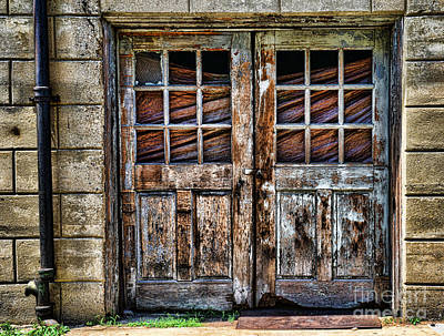 Old Weathered Doors Poster