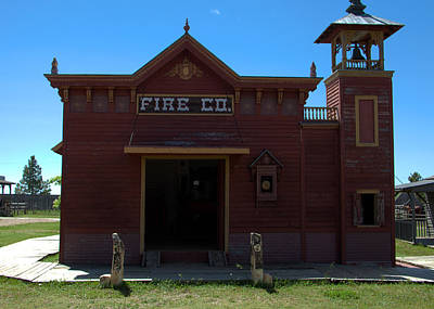 Old West Fire Station Poster