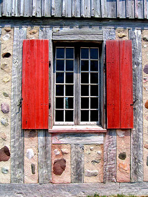 Poster featuring the photograph Old Window Fort Michilimackinac Michigan by Mary Bedy