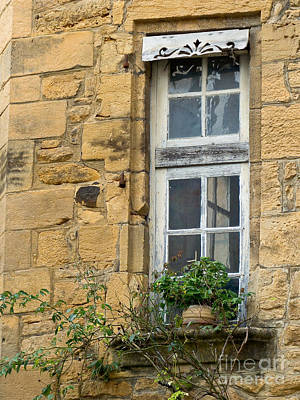 Poster featuring the photograph Old Window In France by Paul Topp