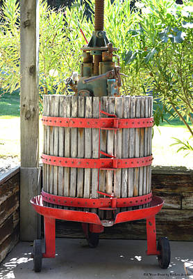 Old Wine Press Poster by Barbara Snyder