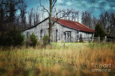 Old Wooden Barn Poster by Betty LaRue