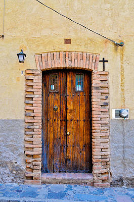 Old Wooden Door - Mexico - Photograph By David Perry Lawrence Poster by David Perry Lawrence