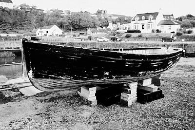 Old Wooden Fishing Boat In Portpatrick Harbour Scotland Uk Poster by Joe Fox