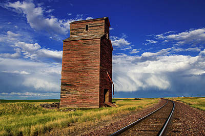 Old Wooden Granary Still Stands Poster by Chuck Haney