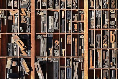 Old World Letterpress Poster