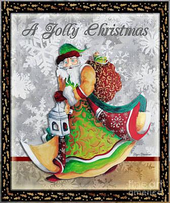 Old World Santa Clause Christmas Art Original Painting By Megan Duncanson Poster by Megan Duncanson