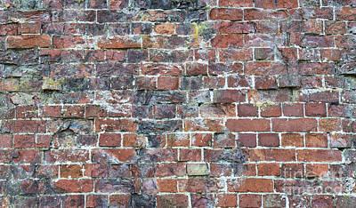 Old Worn Red Brickwork Pattern Poster by Tim Gainey
