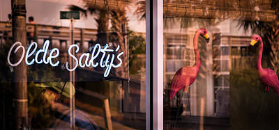 Olde Saltys Reflections Poster by Karen Wiles