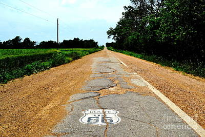 Poster featuring the photograph Oldest Stretch Of Route 66 by Utopia Concepts