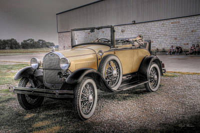 Poster featuring the photograph Old Ford Model A Coupe by Dyle   Warren