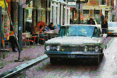 Oldsmobile In Amsterdam Poster