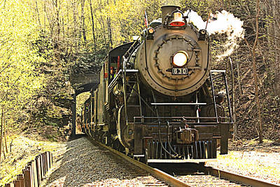 Poster featuring the photograph Ole' #630 Steam Train by Tammy Schneider