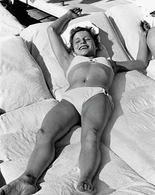 Olga Korbut Lying Down In The Sun Poster