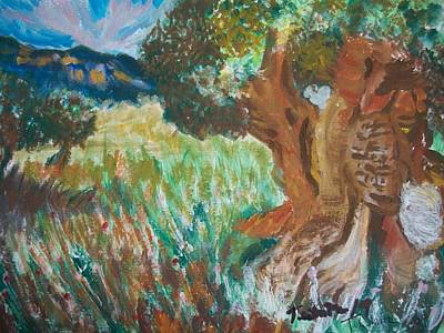 Poster featuring the painting Olive Trees by Teresa White