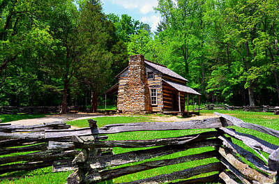 Oliver Cabin 1820s Poster by David Lee Thompson