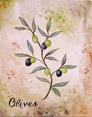 Olives Painting Poster