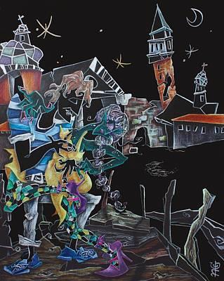 Oltremare - Tango Fantasy Paintings - Contemporary Art By Nacasona Poster by Arte Venezia