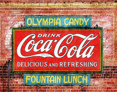 Poster featuring the painting Olympia Candy by Sandy MacGowan