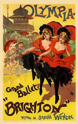 Olympia Grand Ballet Brighton Poster by Gianfranco Weiss
