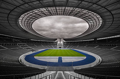 Olympia Stadion Berlin Poster by Stavros Argyropoulos