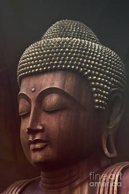 Om Mani Padme Hum  - Buddha Poster by Sharon Mau