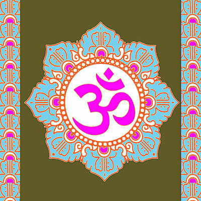 Poster featuring the photograph Om Mantra Ommantra 3 by Navin Joshi