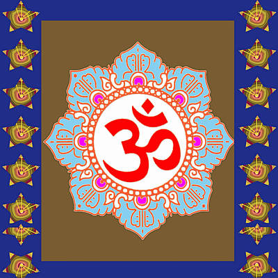 Poster featuring the photograph Om Mantra Ommantra Chant Yoga Meditation Tool by Navin Joshi