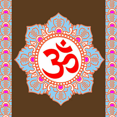 Poster featuring the photograph Om Mantra Ommantra by Navin Joshi