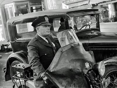 Omaha Nebraska Motorcycle Cop 1938 Poster