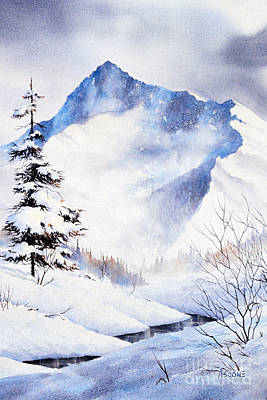 Poster featuring the painting O'malley Peak by Teresa Ascone