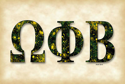 Omega Phi Beta - Parchment Poster