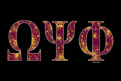 Omega Psi Phi - Black Poster