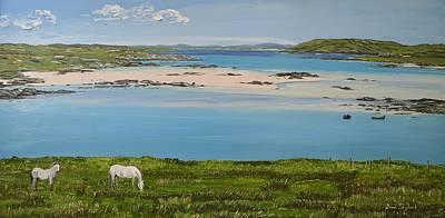 Omey Strand To Omey Island Cladaghduff Connemara Ireland Poster