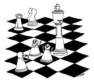 On A Chessboard Poster by Edward Steed
