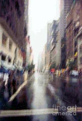 Poster featuring the photograph On A Clear Day 5th Ave New York by Michael Hoard
