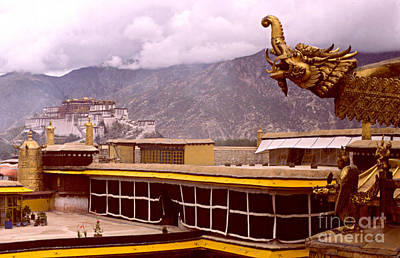 On Jokhang Monastery Rooftop Poster by Anna Lisa Yoder