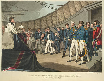 On Lord Nelson's Ship Poster
