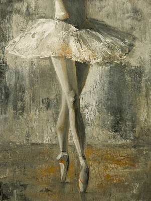 Poster featuring the painting En Pointe by Jani Freimann